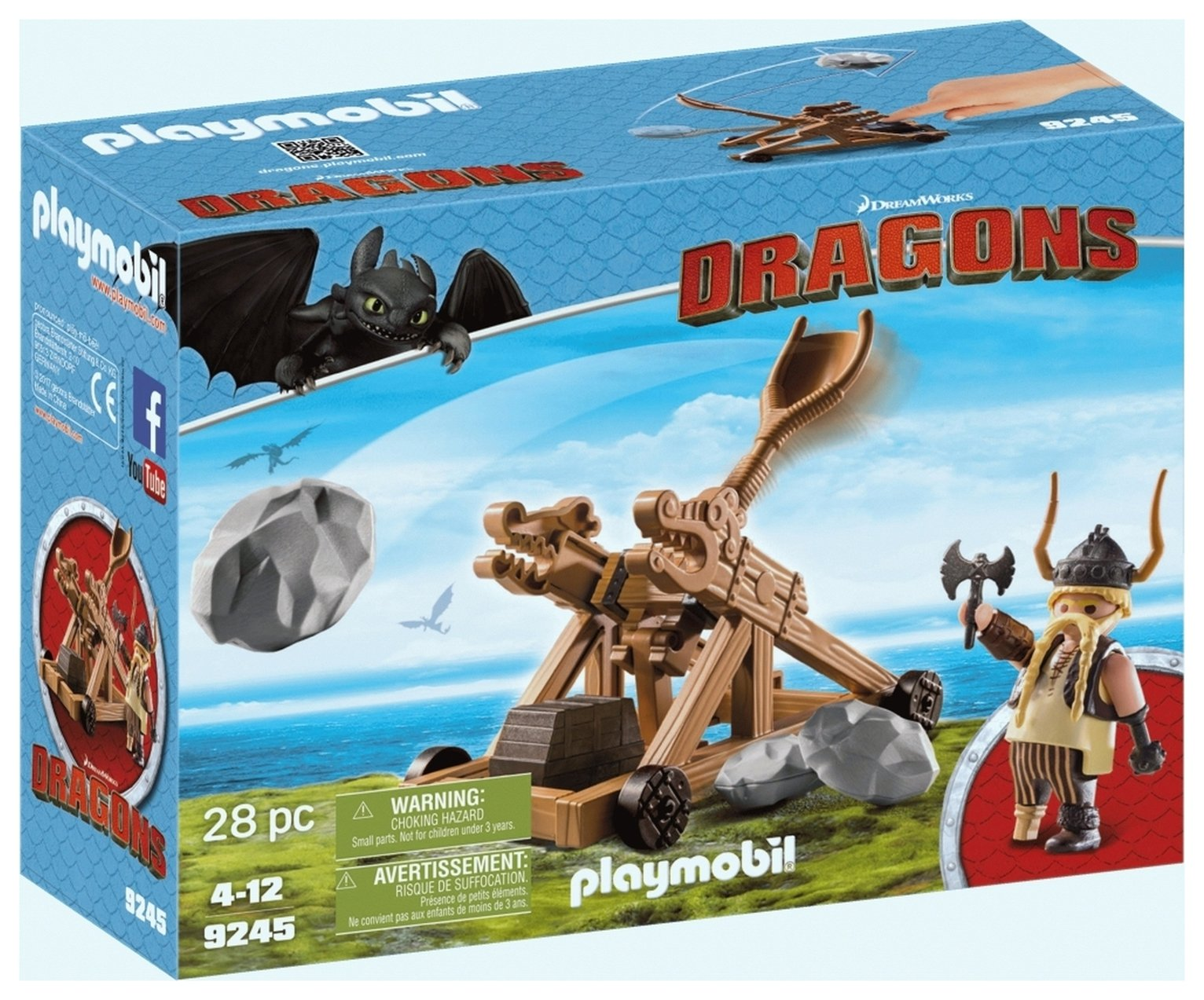 DreamWorks Dragons� 9461 Gobber With Sling By Playmobil
