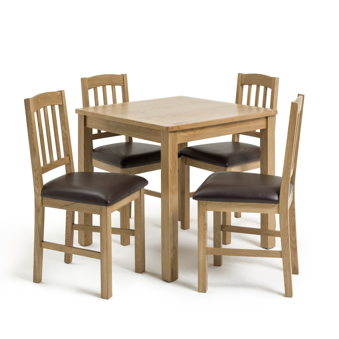 Argos Home Ashwell Oak Veneer Dining Table and 4 Chairs
