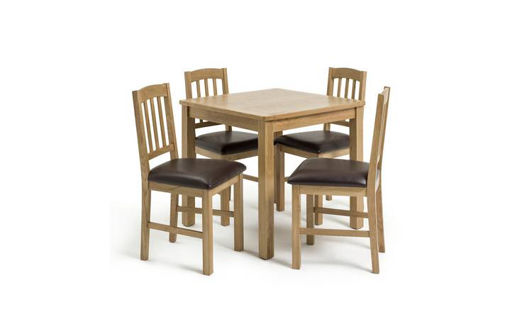 Buy Argos Home Ashwell Oak Veneer Dining Table Amp 4 Chairs