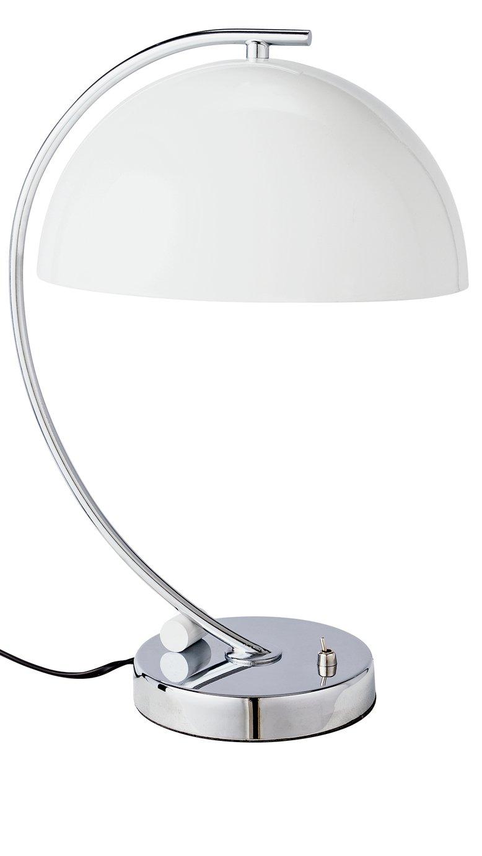 Argos Home Kupo Chrome Table Lamp - White