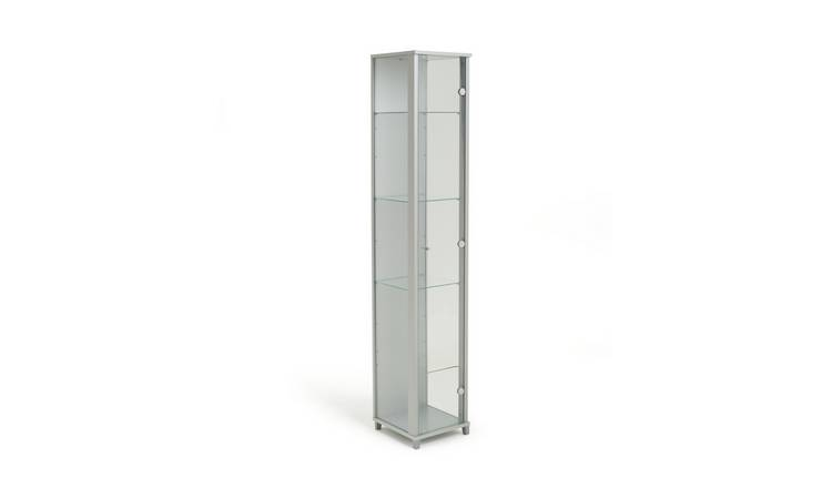 Habitat 1 Door Glass Display Cabinet - Silver