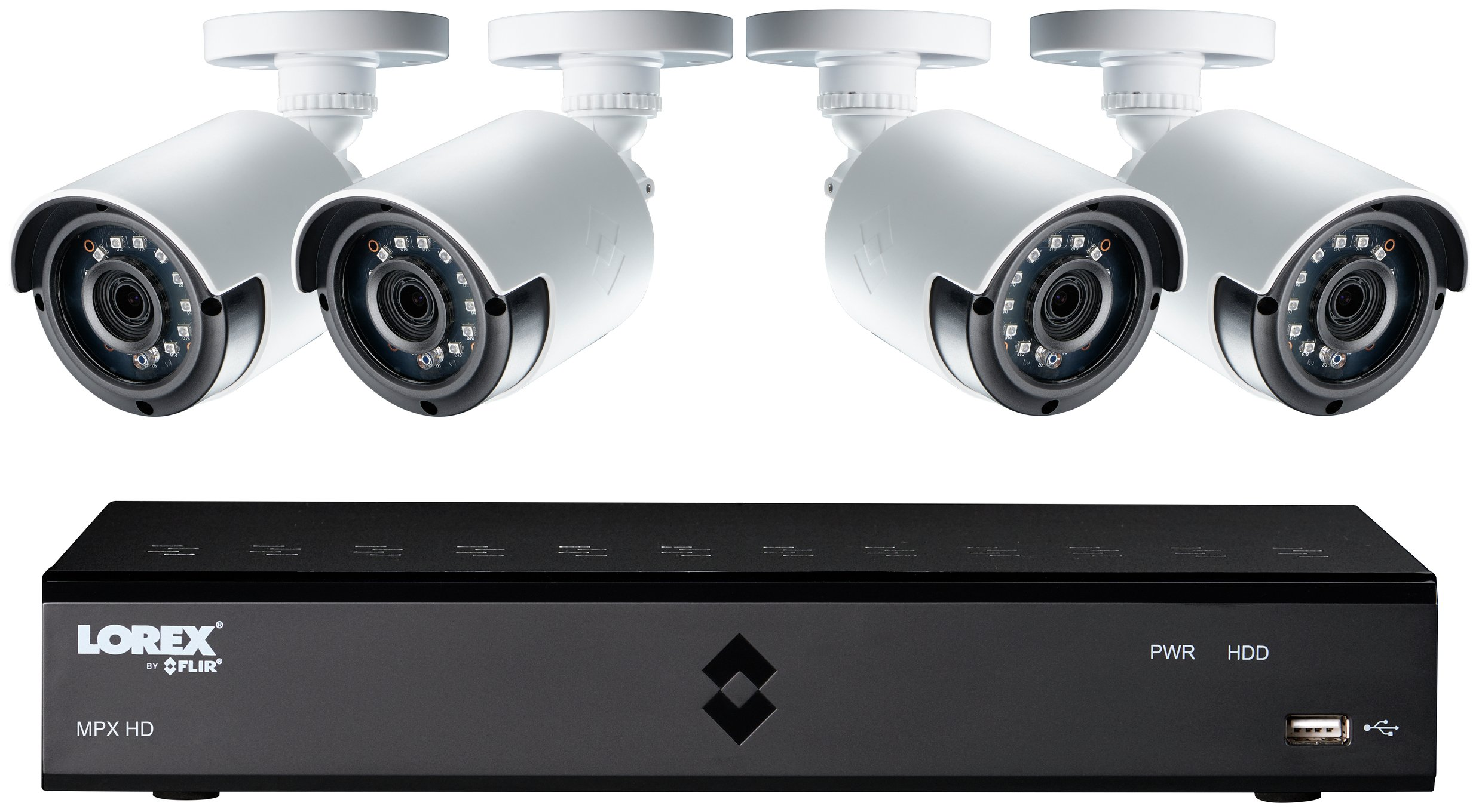 Lorex 4 Channel 1080p DVR with 4 x HD Cameras