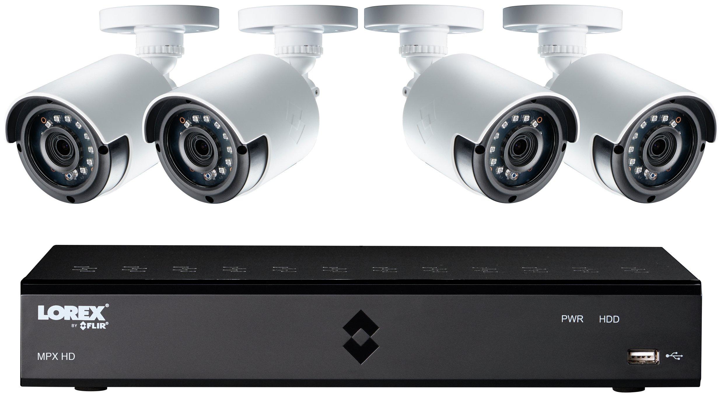 Lorex 4 Channel 1080p DVR with 4 x HD Cameras