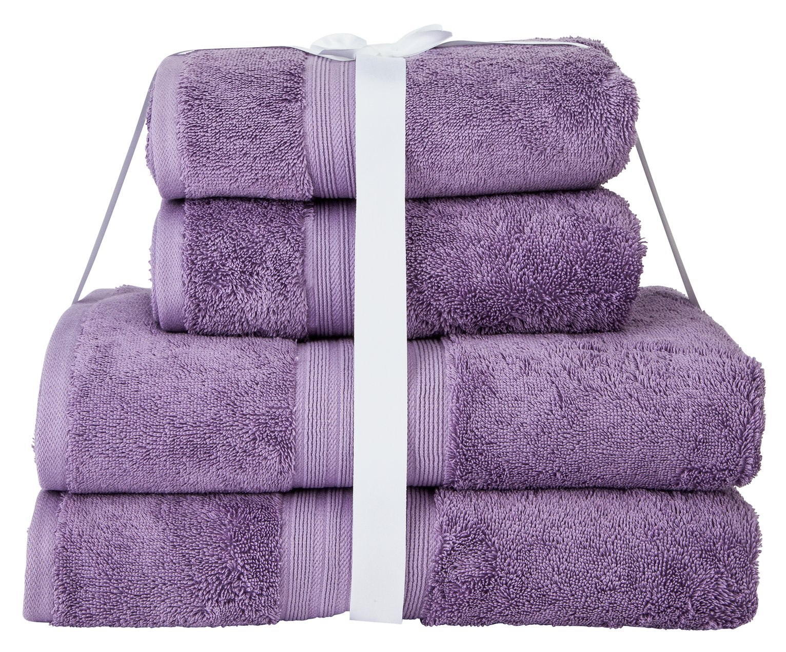 Argos Home Egyptian Cotton 4 Piece Towel Bale - Lilac