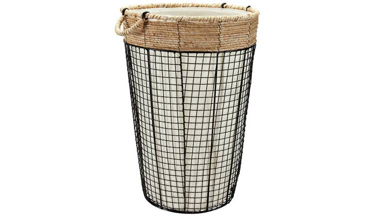 Buy Argos Home 45 Litre Round Rope & Wire Edge Laundry Bin | Limited stock  Home and garden | Argos