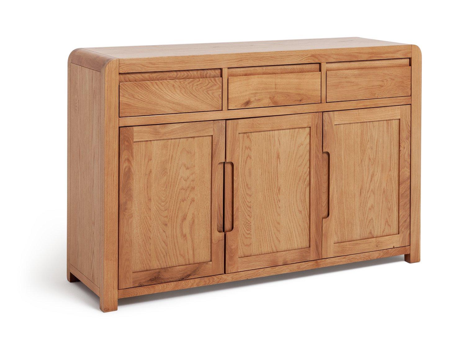 Argos Home Novara 3 Door 3 Drawer Sideboard - Oak Veneer