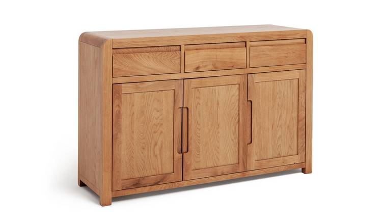 Habitat Novara 3 Door 3 Drawer Sideboard - Oak Veneer