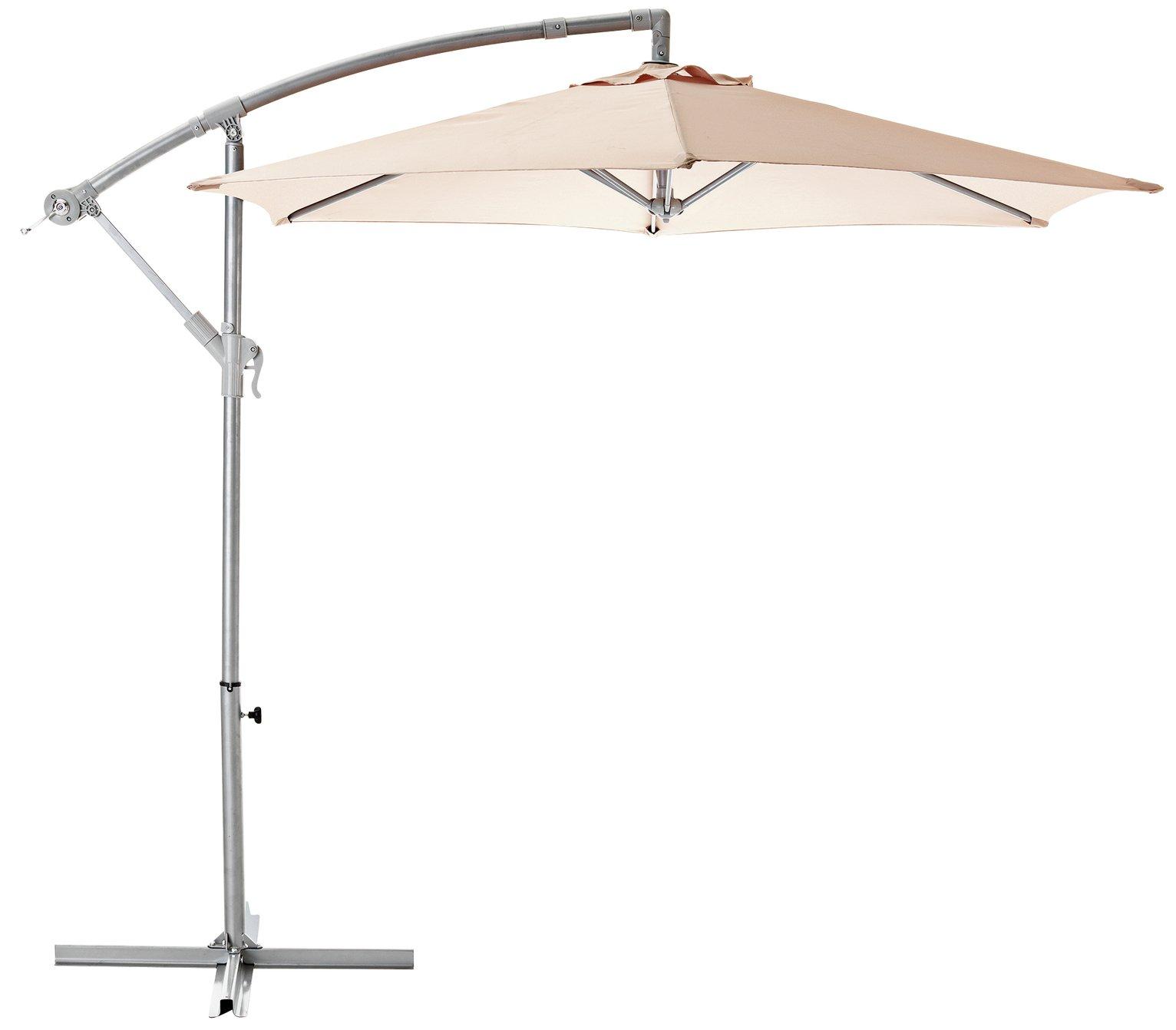 Argos Home 2.5m Overhanging Garden Parasol - Cream