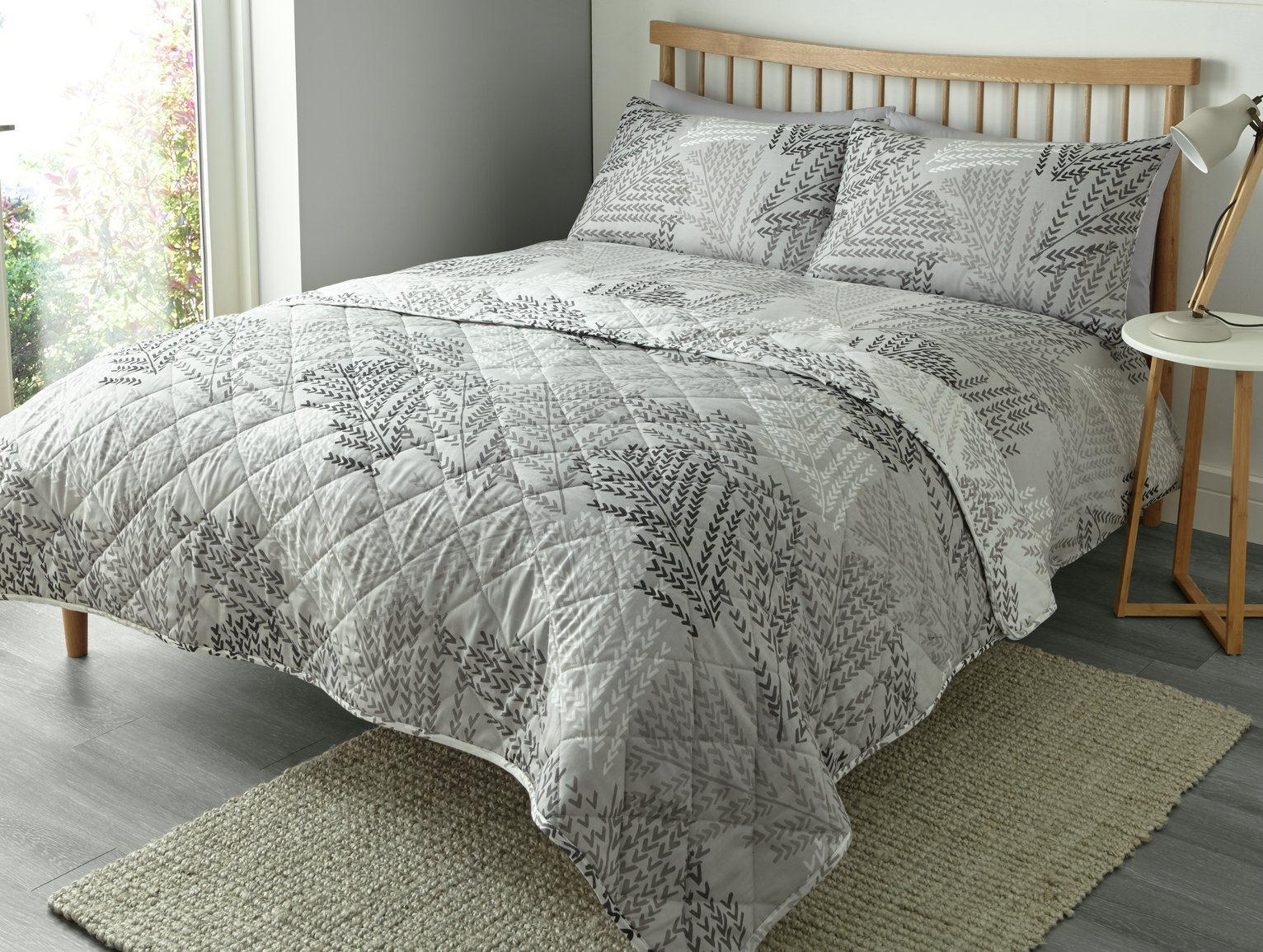 Image of Fusion Alena Silver Bedding Set - Kingsize