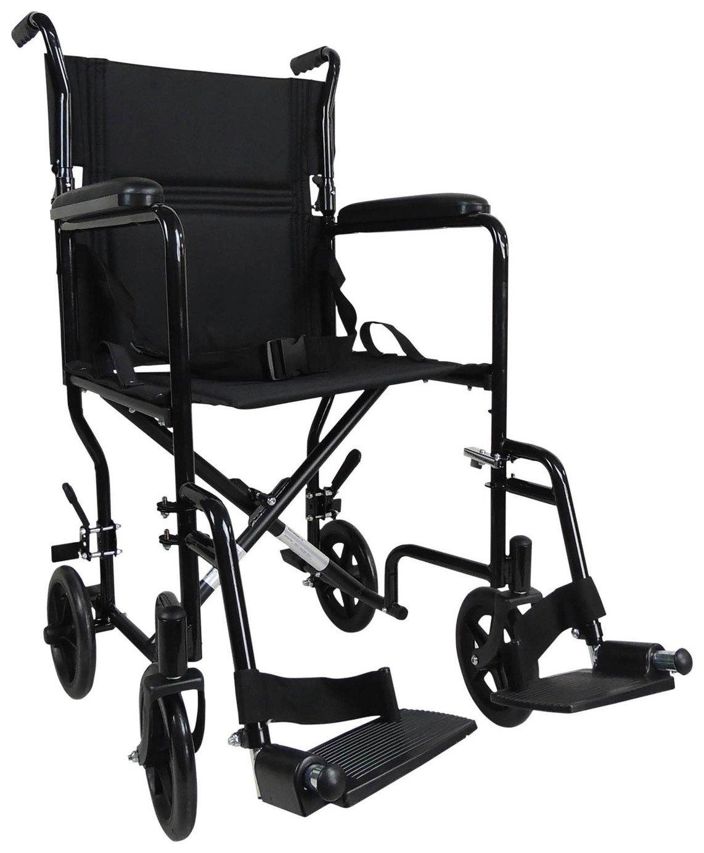 Aidapt Transport Aluminium Wheelchair - Black