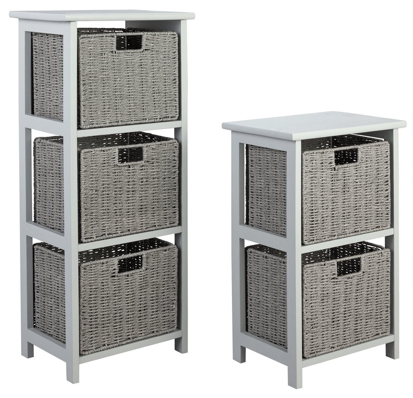 Image of Collection 2 & 3 Drawer Storage Unit - Grey