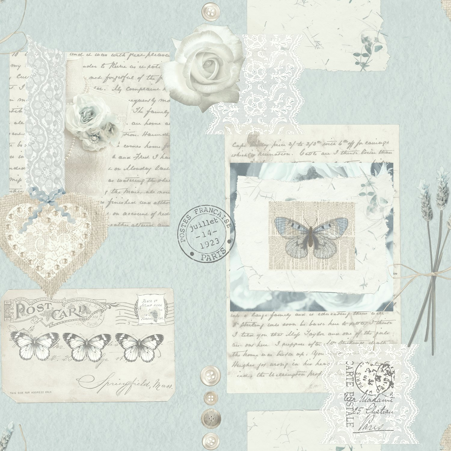 Arthouse Lavender Days Wallpaper - Blue