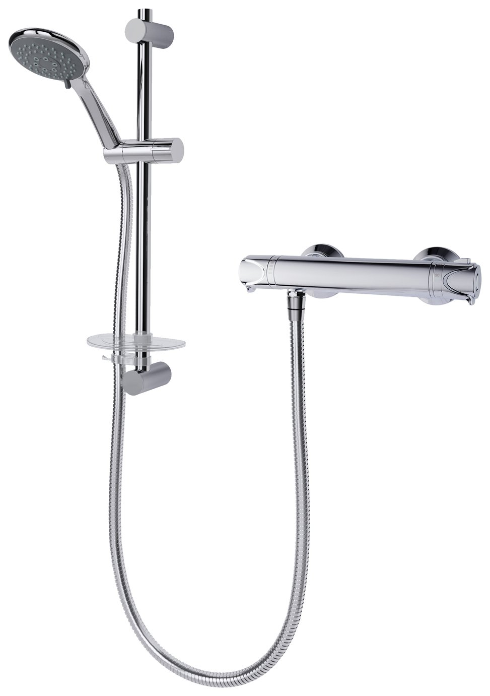 Triton Pirlo Hi Flow Bar Dual Control Mixer Shower - Chrome