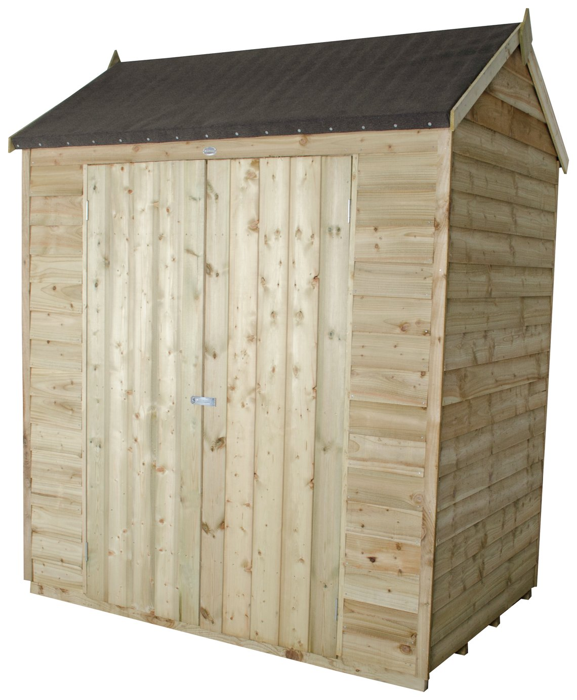 Image of Forest Overlap Pressure Treated Reverse Apex Shed - 6 x 4ft