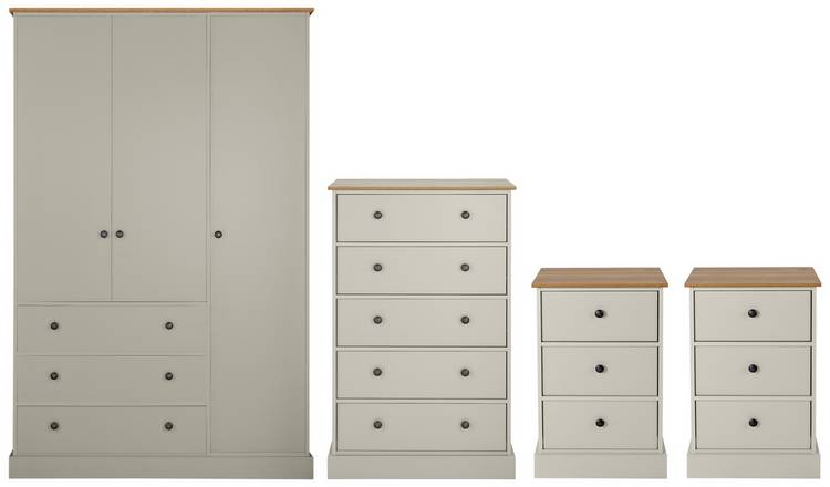 Buy Argos Home Kensington 4 Piece Bedroom Package - Grey | Bedroom  furniture sets | Argos