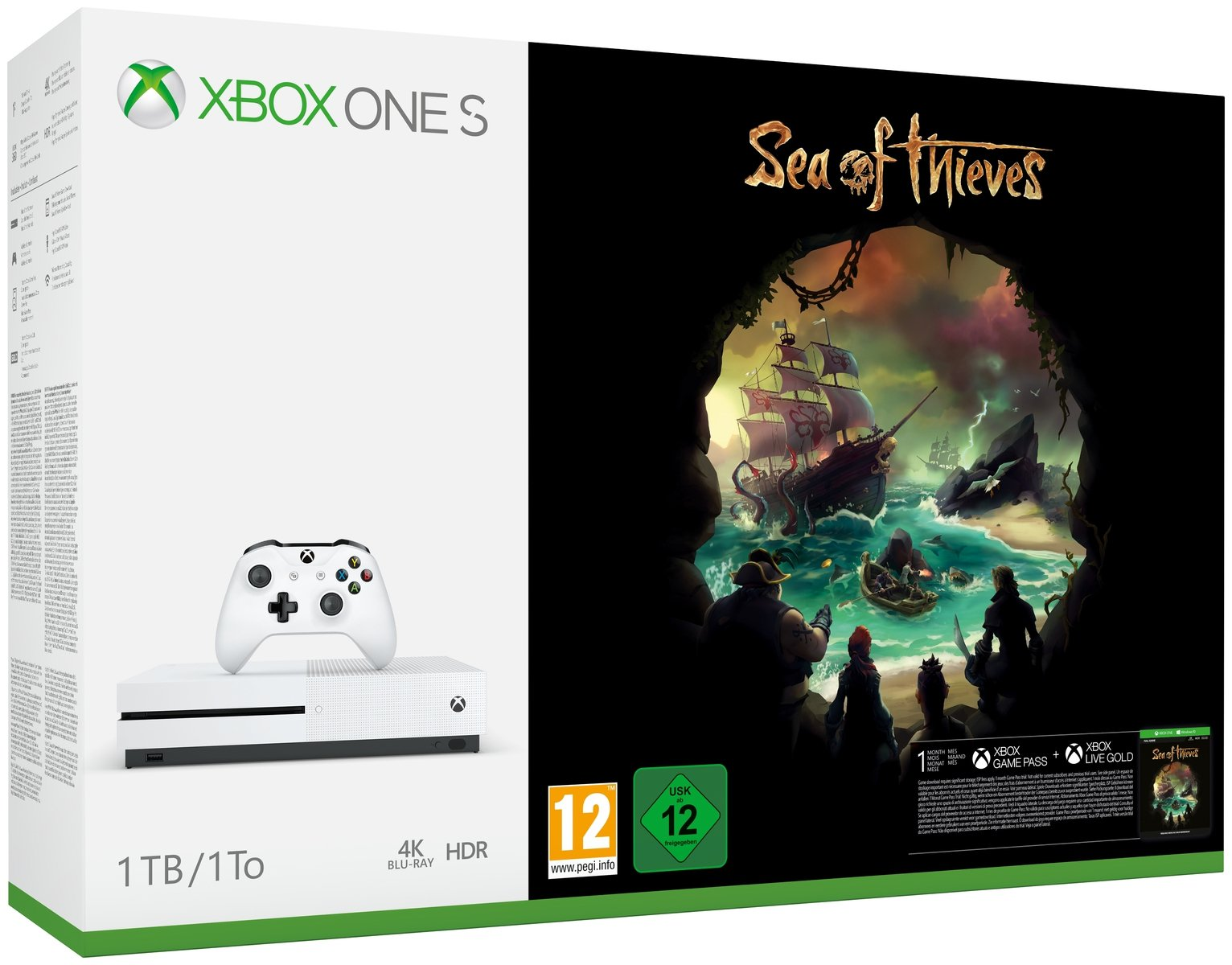 Xbox One S 1TB with Sea of Thieves Console Bundle