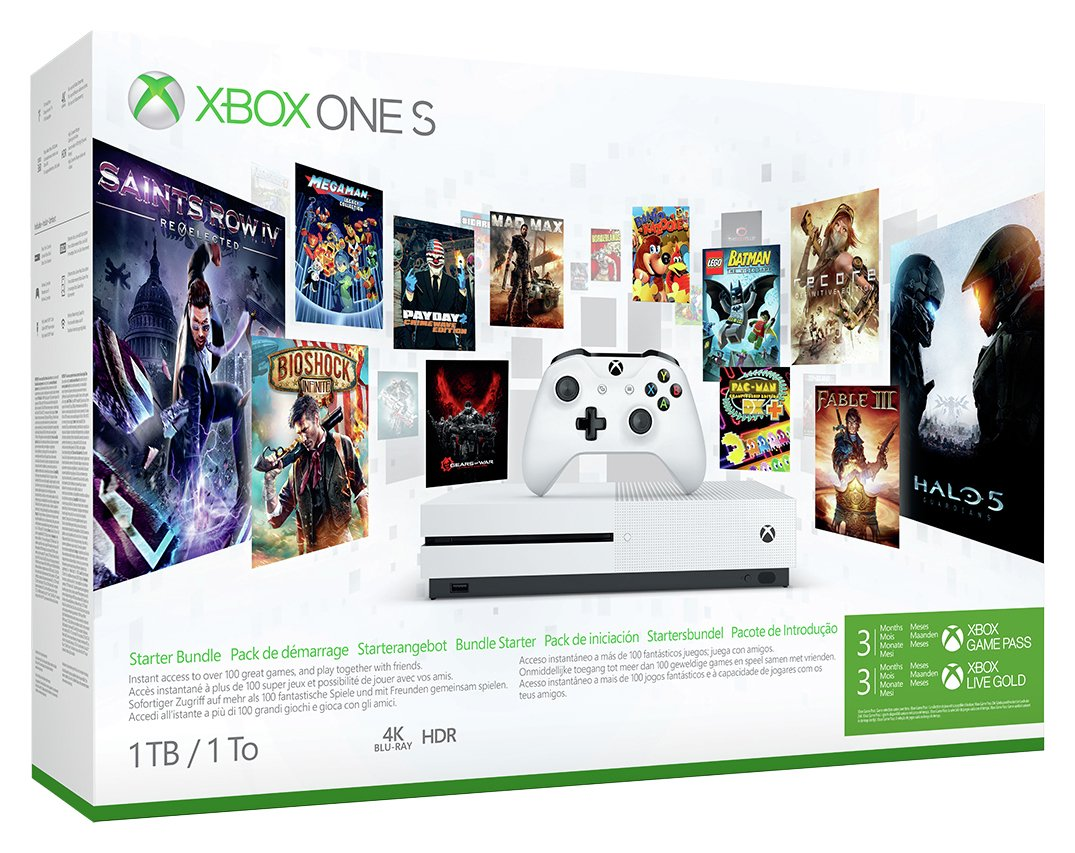 Image of Xbox One S 1TB Console with Game Pass and Xbox Live Bundle