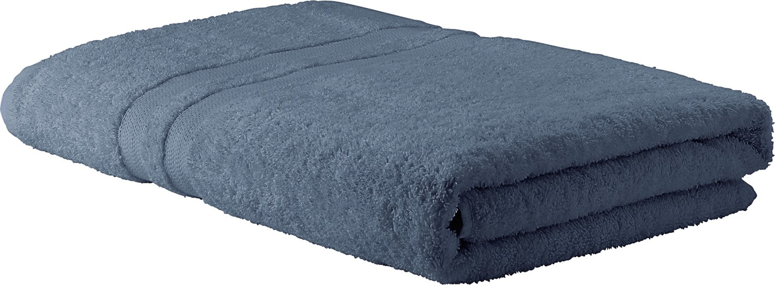 Argos Home Egyptian Cotton Bath Sheet - Rustic Blue