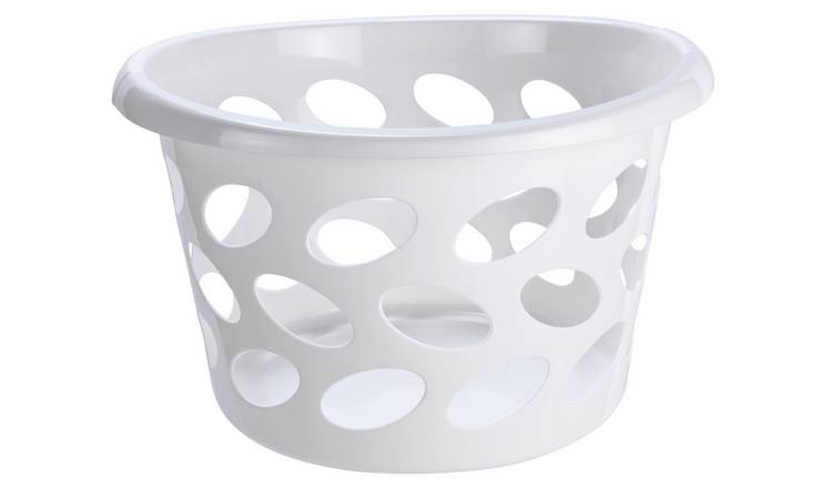 Argos Home 30 Litre Round Laundry Basket - White