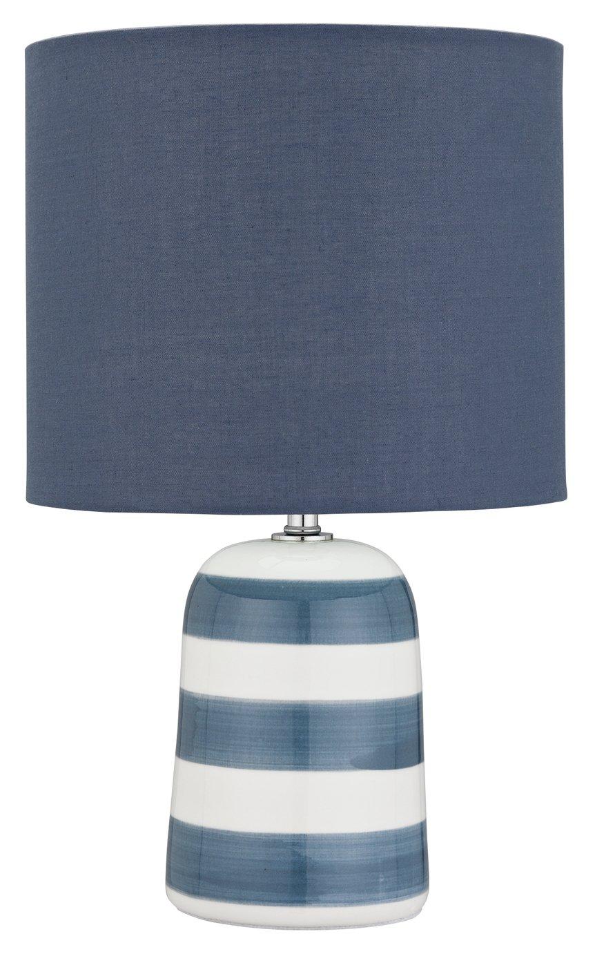Argos Home Harbour Ceramic Table Lamp - Blue & White