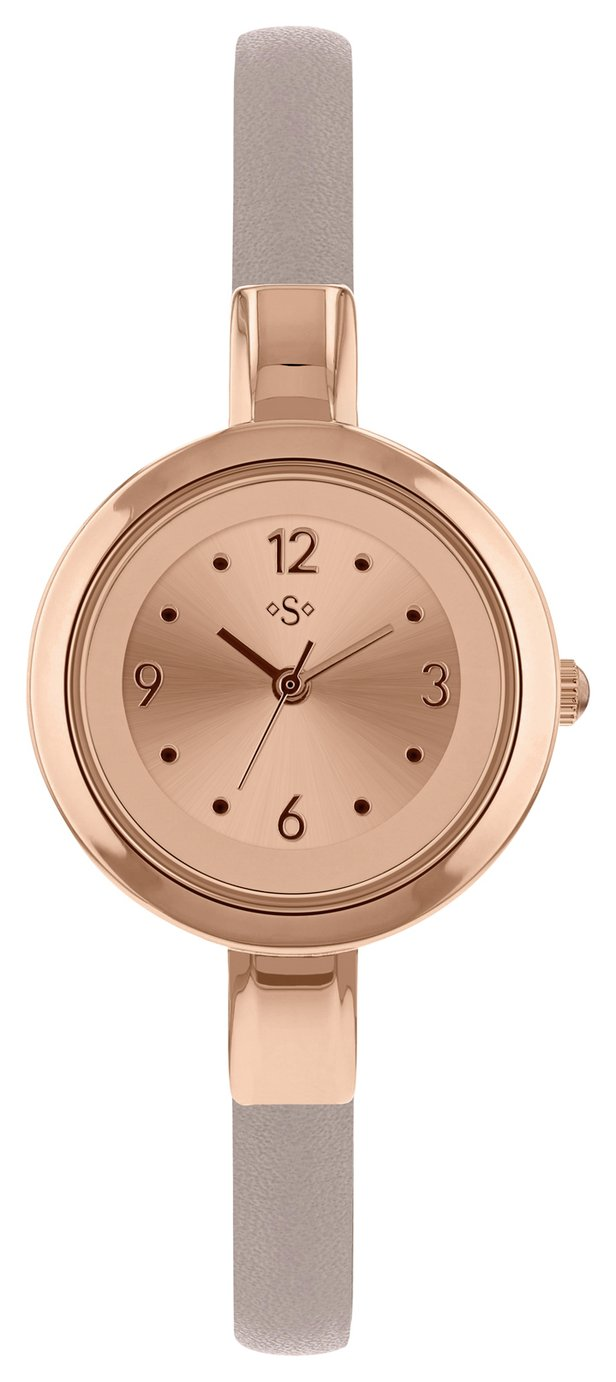Spirit Ladies' Rose Gold Colour Dial and Mink Strap Watch