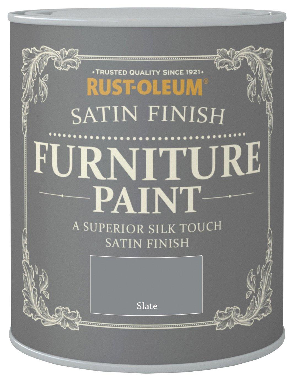 Rust-Oleum Satin Furniture Paint 750ml - Slate
