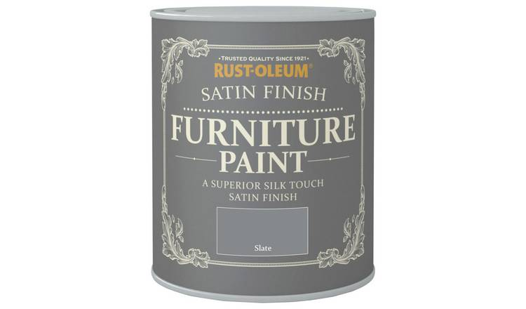 Rust-Oleum Satin Furniture Paint 750ml - Slate