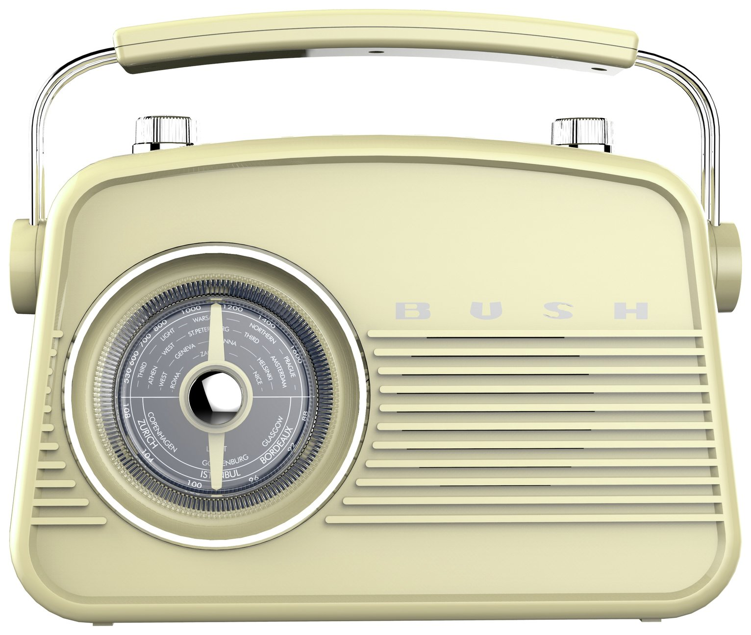 'Bush Retro Mini  Fm Radio - Cream