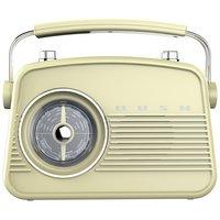 Bush Retro Mini DAB / FM Radio - Cream