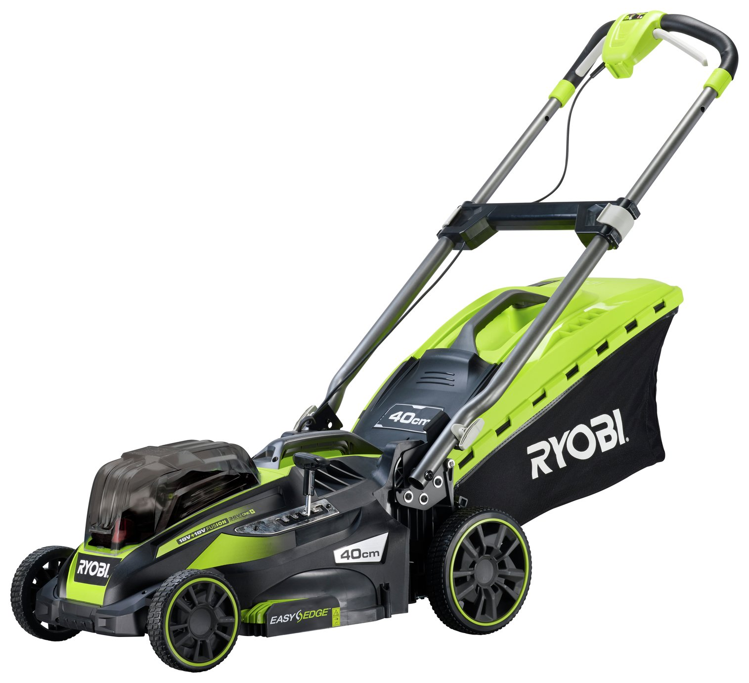 Ryobi RLM18X41H240 40cm Cordless Lawnmower with 2 Batteries