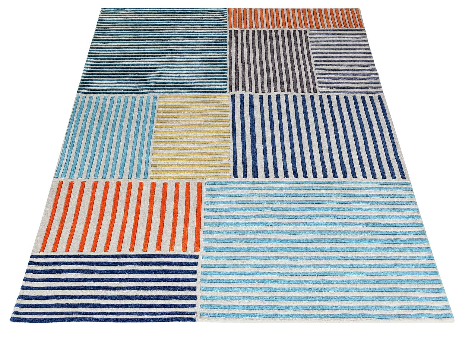 Argos Home Stripes Rug - 160x230cm - Multicoloured