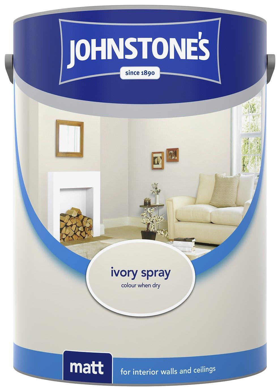 Johnstone's Matt Emulsion 5L - Ivory Spray