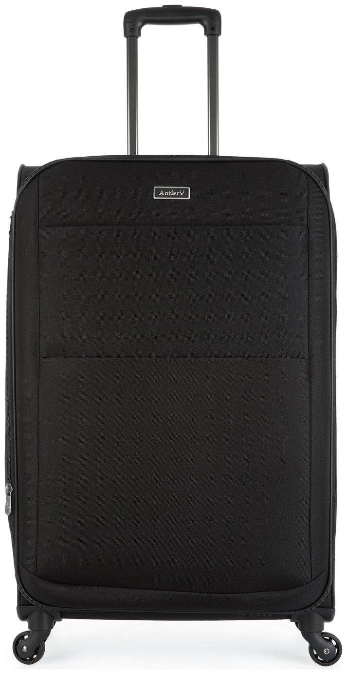 Image of Antler Tourlite Soft 4 Wheel Large Suitcase - Black