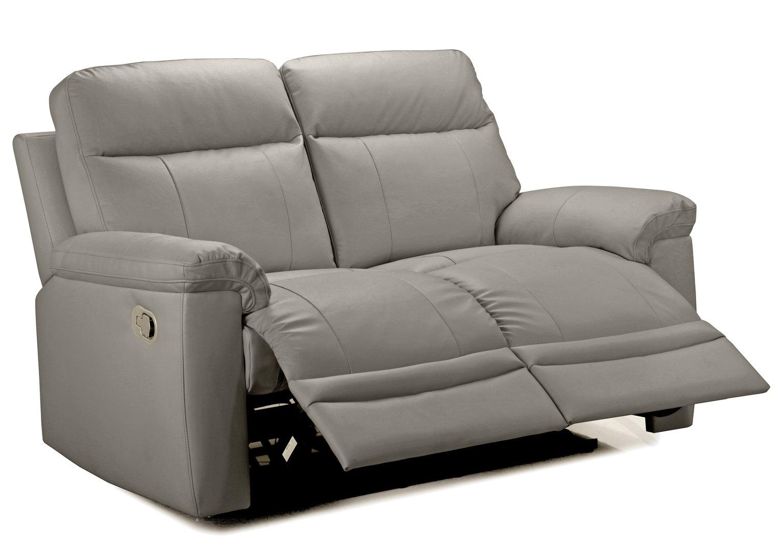 Argos Home Paolo 2 Seater Manual Recliner Sofa - Grey