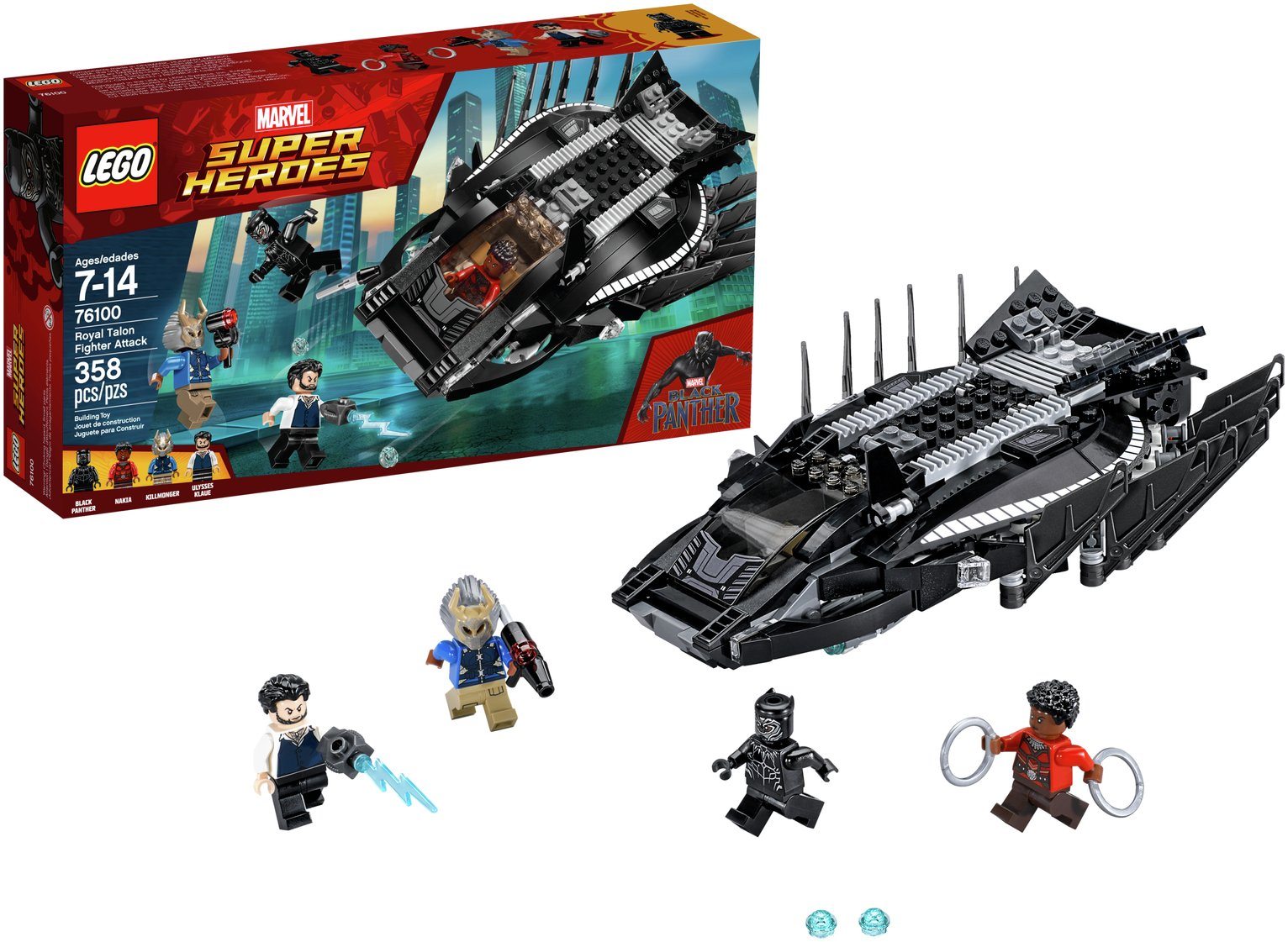 LEGO Black Panther Royal Talon Fighter Attack - 76100