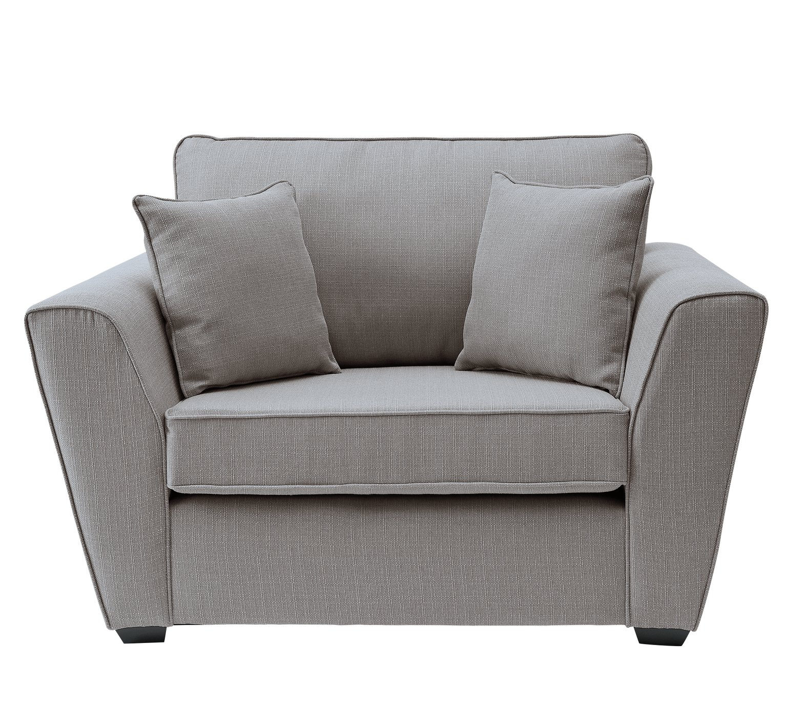Argos Home Renley Fabric Cuddle Chair - Light Grey