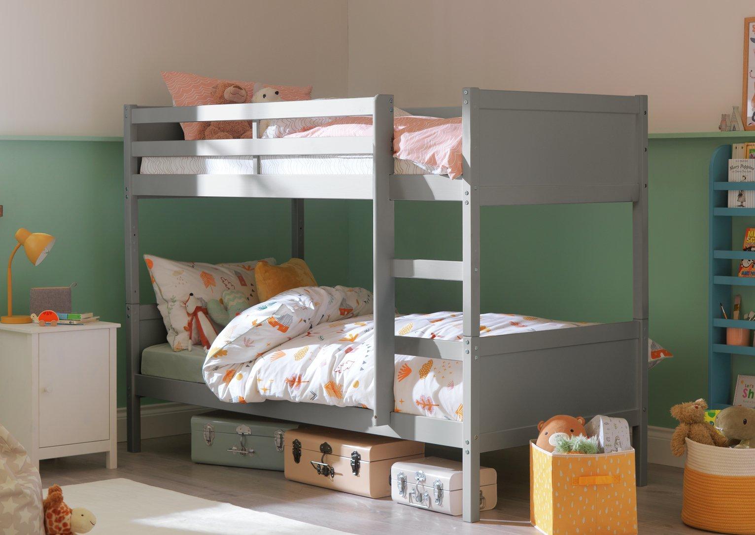 Argos Home Detachable Bunk Bed Frame - Grey