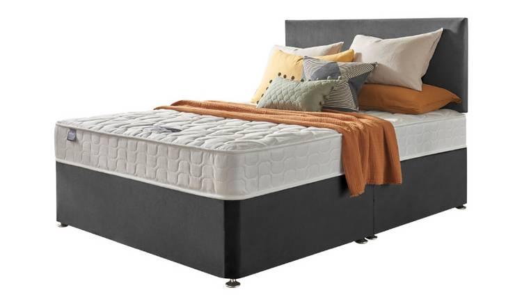 finest selection 6272e 74e95 Buy Silentnight Travis Kingsize Divan & Headboard - Charcoal | Divan beds |  Argos