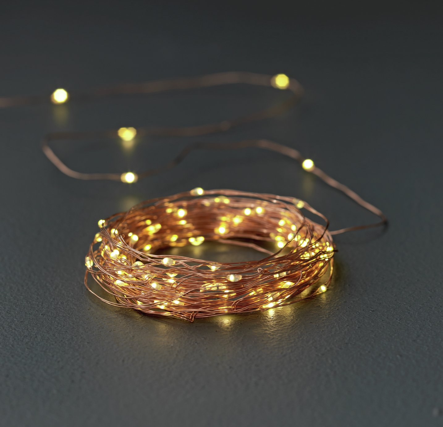 Argos Home Set of 100 LED Copper String Lights - Warm White