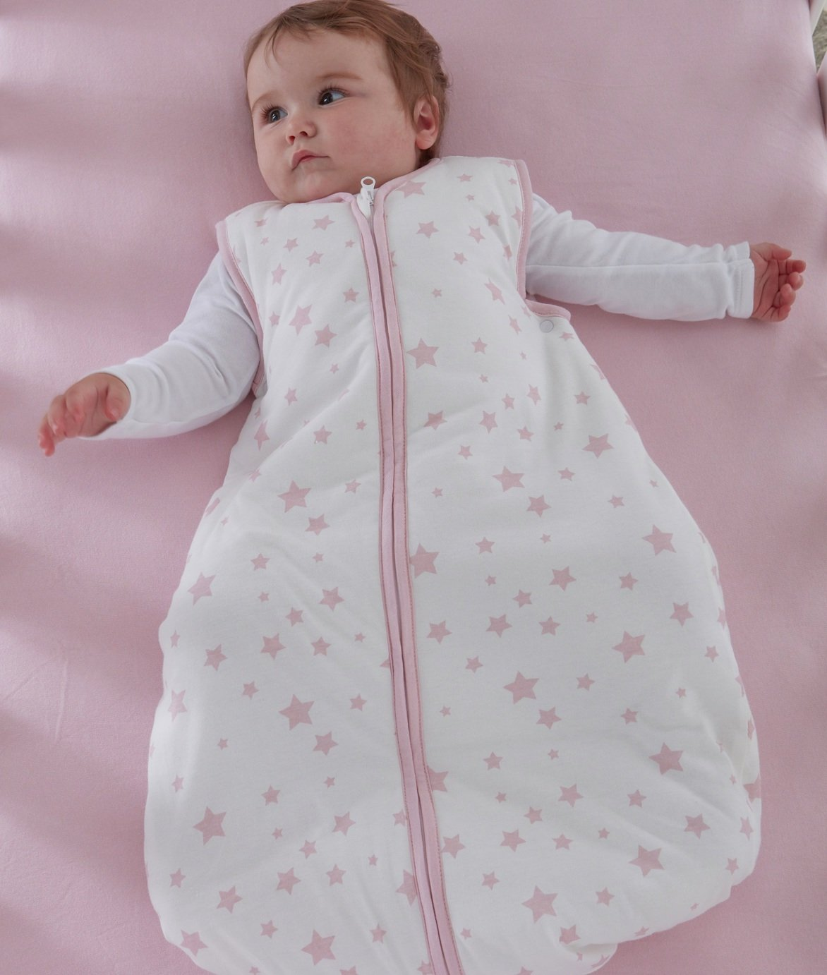 Silentnight Baby Sleeping Bag - Pink Stars
