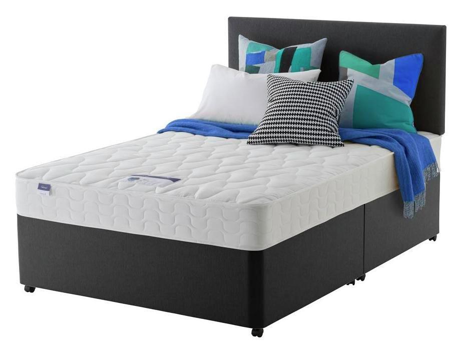 Silentnight Travis Microquilt Divan Bed - S.King