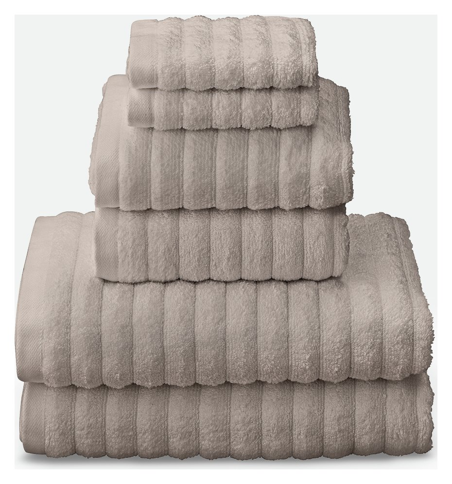 Argos Home Quick Dry 6 Piece Towel Bale - Stone