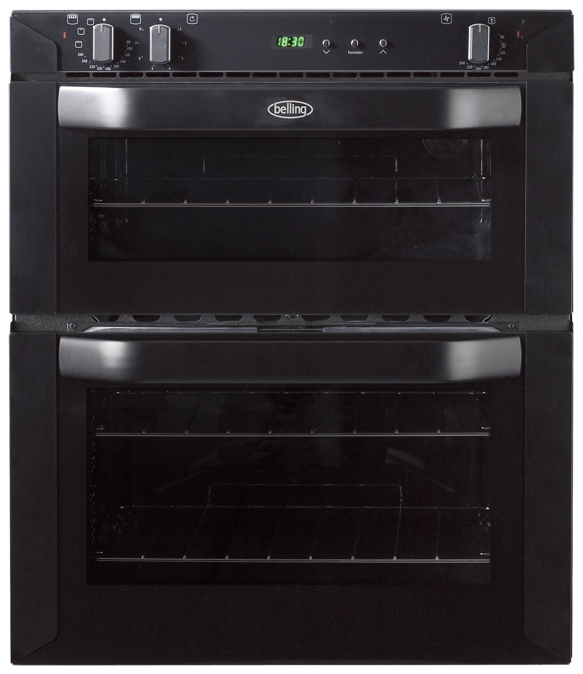 Image of Belling BI70FP Built-in Double Electric Oven - Black