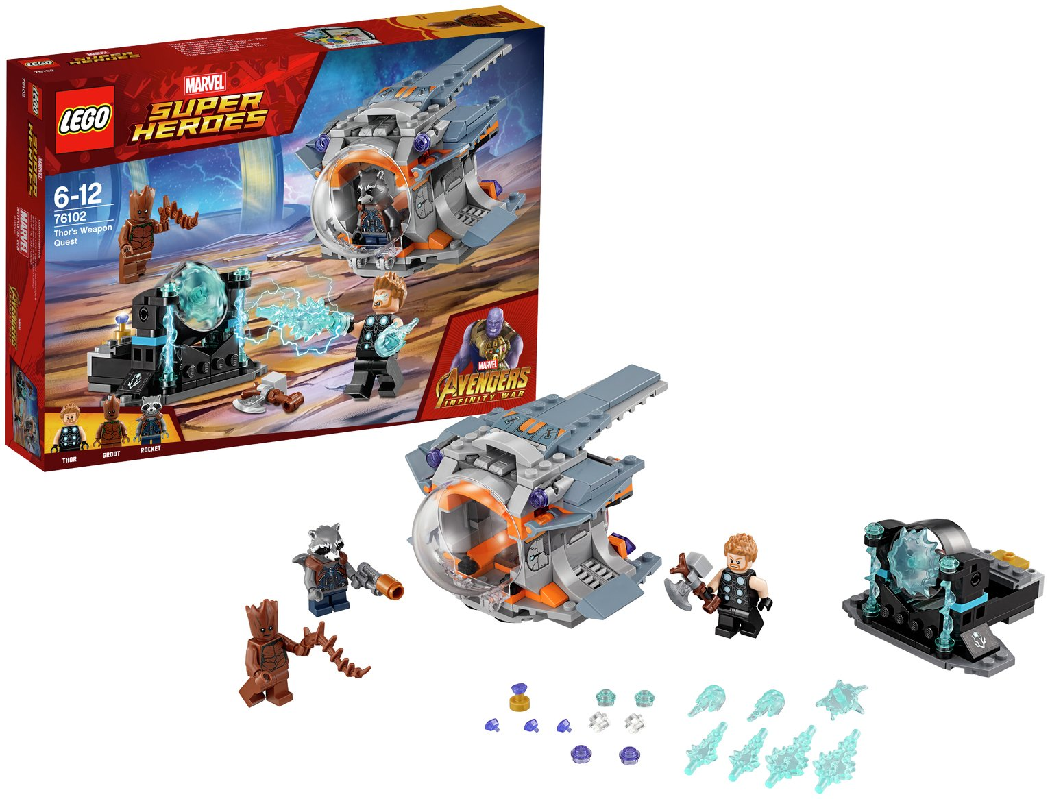 LEGO Marvel Avengers Thor's Weapon Quest Toy - 76102