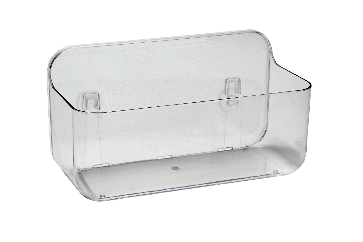Addis Invisifix Bathroom Wall Caddy - Clear