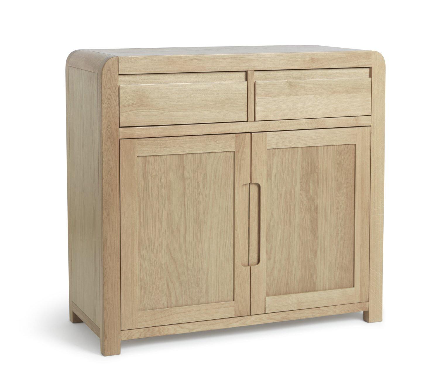 Argos Home Novara 2 Door 2 Drawer Sideboard - Oak Veneer