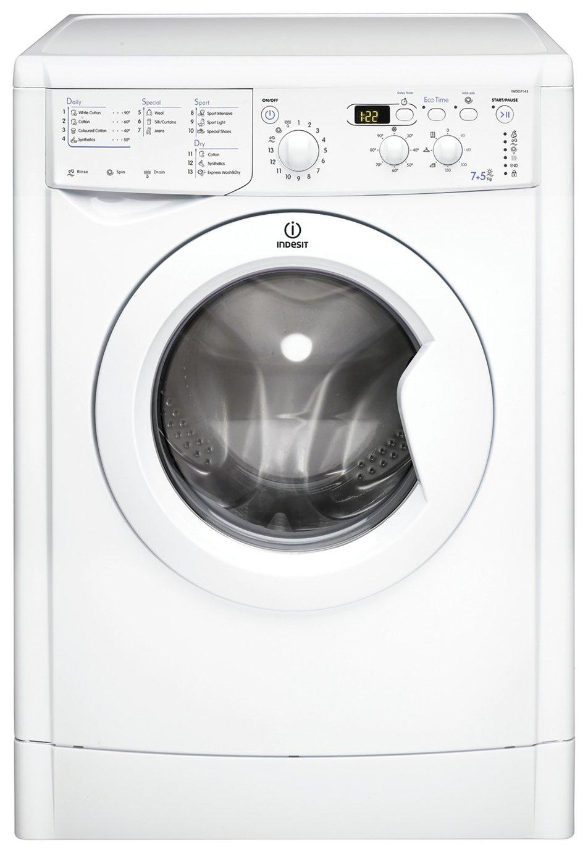 Indesit IWDD7143 7KG / 5KG 1400 Spin Washer Dryer - White