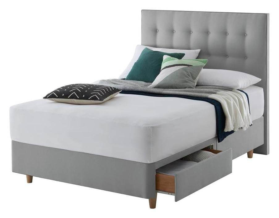 Silentnight Alaro Grey Divan Bed - Superking