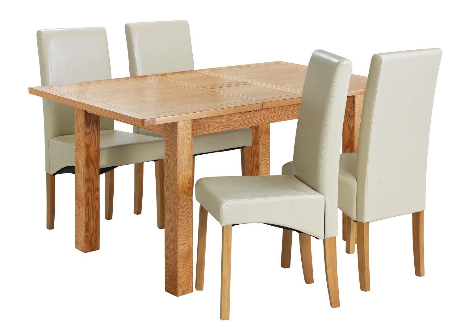 Collection Ashwell Extendable Table & 4 Chairs - Cream
