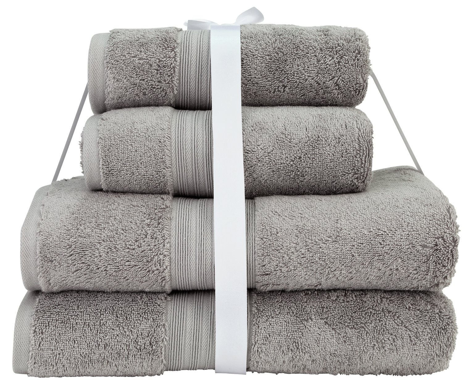 Argos Home Egyptian Cotton 4 Piece Towel Bale - Glac Grey